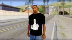 Black T-Shirt wBlack T-Shirt with middle finger для GTA San Andreas