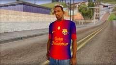 Barcelona Messi T-Shirt для GTA San Andreas
