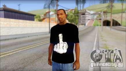 Black T-Shirt wBlack T-Shirt with middle finger для GTA San Andreas