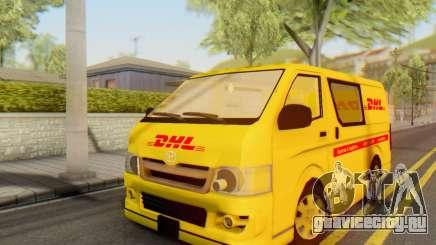 Toyota Hiace DHL Cargo Van 2006 для GTA San Andreas
