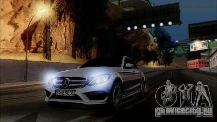 Mercedes-Benz C250 2014 V1.0 EU Plate для GTA San Andreas