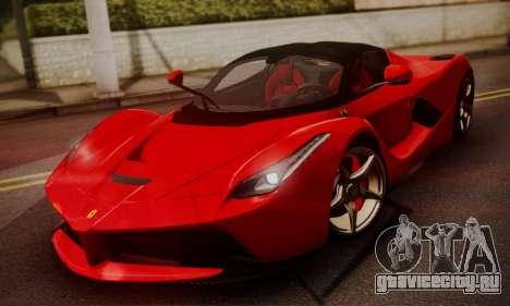 Ferrari LaFerrari F70 2014 для GTA San Andreas вид справа