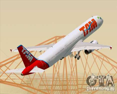 Airbus A321-200 TAM Airlines для GTA San Andreas колёса