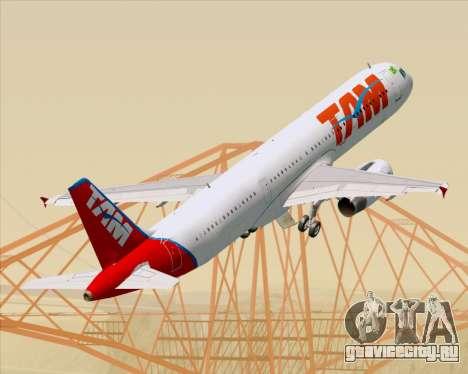 Airbus A321-200 TAM Airlines для GTA San Andreas колёса