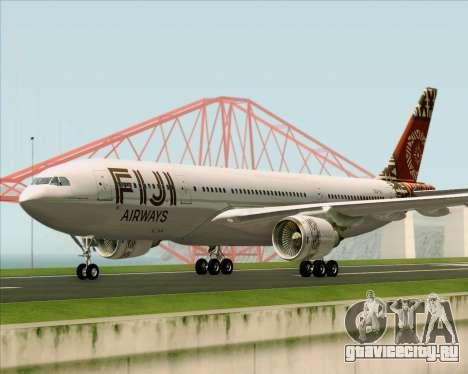 Airbus A330-200 Fiji Airways для GTA San Andreas вид слева