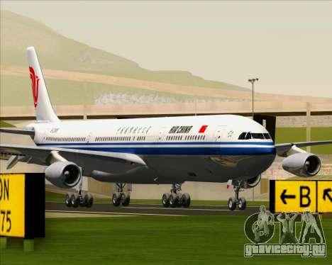 Airbus A340-313 Air China для GTA San Andreas вид сзади слева