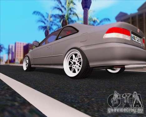 Honda Civic EM1 V2 для GTA San Andreas вид сзади слева