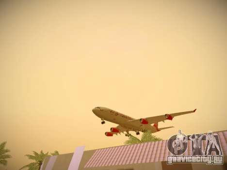 Airbus A340-300 Virgin Atlantic для GTA San Andreas двигатель