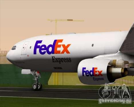 Airbus A330-300P2F Federal Express для GTA San Andreas вид снизу