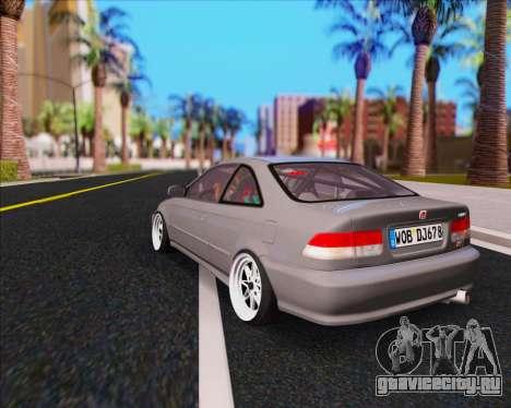 Honda Civic EM1 V2 для GTA San Andreas вид слева