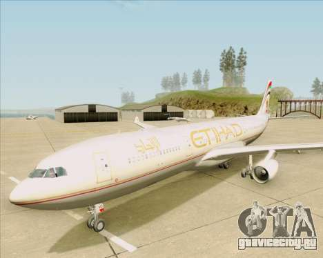Airbus A340-313 Etihad Airways для GTA San Andreas вид сверху