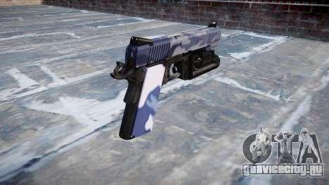 Пистолет Kimber 1911 Blue Tiger для GTA 4 второй скриншот