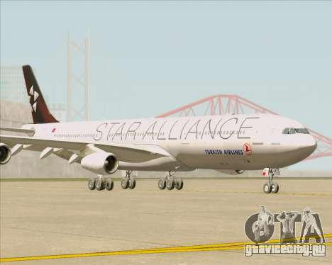 Airbus A340-311 Turkish Airlines (Star Alliance) для GTA San Andreas вид слева