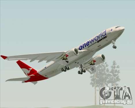 Airbus A330-200 Qantas Oneworld Livery для GTA San Andreas двигатель