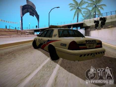 Ford Crown Victoria Toronto Police Service для GTA San Andreas вид сзади слева