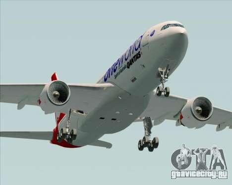 Airbus A330-200 Qantas Oneworld Livery для GTA San Andreas вид сбоку