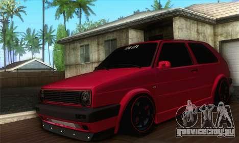 Volkswagen Golf Mk2 Low Life для GTA San Andreas