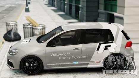 Volkswagen Golf R 2010 Driving Experience для GTA 4 вид сзади слева