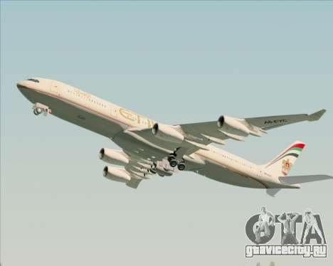 Airbus A340-313 Etihad Airways для GTA San Andreas двигатель