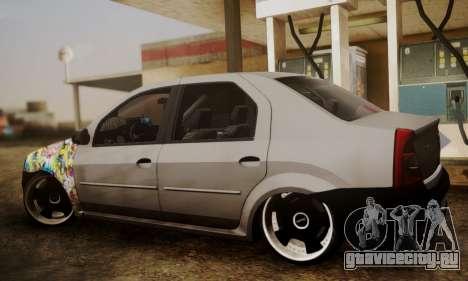 Dacia Logan Sedan Tuned для GTA San Andreas вид слева