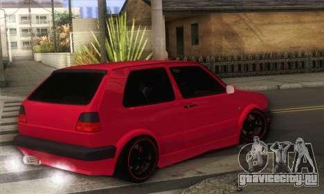 Volkswagen Golf Mk2 Low Life для GTA San Andreas вид слева
