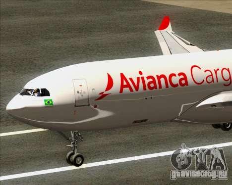 Airbus A330-243F Avianca Cargo для GTA San Andreas вид справа