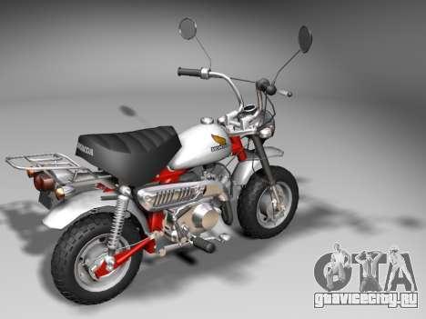 Honda Z50J Monkey для GTA San Andreas вид справа