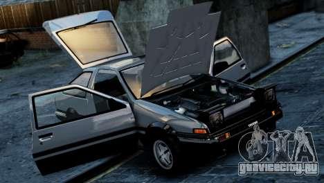 Toyota Sprinter Trueno AE86 Zenki для GTA 4 вид сзади слева