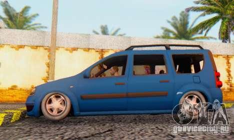 Dacia Logan MCV для GTA San Andreas вид сзади слева