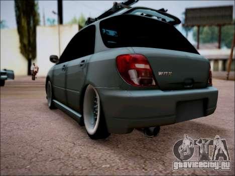 Subaru Impreza Wagon 2002 для GTA San Andreas вид слева