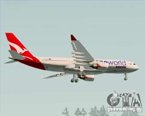Airbus A330-200 Qantas Oneworld Livery для GTA San Andreas вид сзади