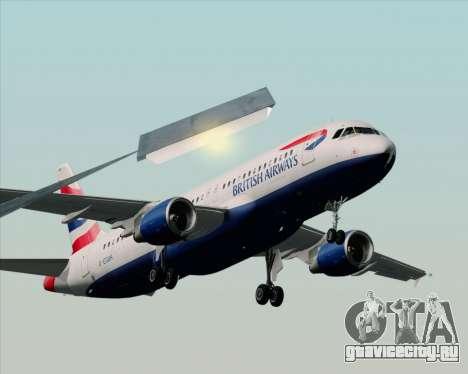Airbus A320-232 British Airways для GTA San Andreas вид сзади