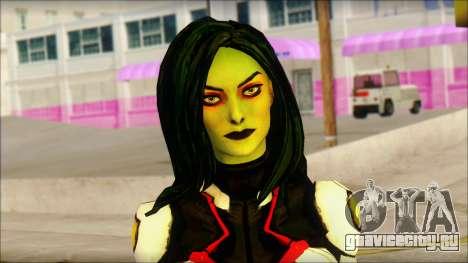 Guardians of the Galaxy Gamora v2 для GTA San Andreas третий скриншот
