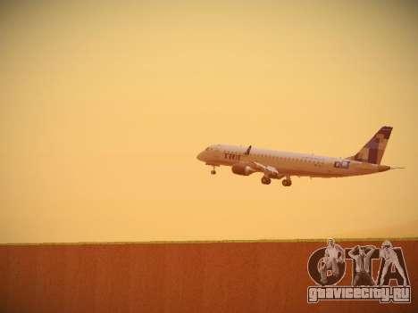 Embraer E190 TRIP Linhas Aereas Brasileira для GTA San Andreas вид сзади