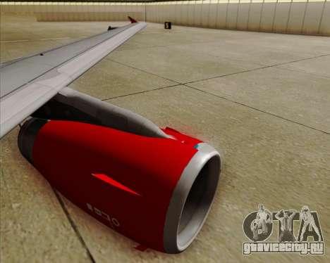 Airbus A319 Air Canada Rouge для GTA San Andreas вид снизу