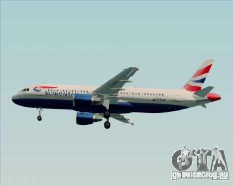 Airbus A320-232 British Airways для GTA San Andreas вид изнутри