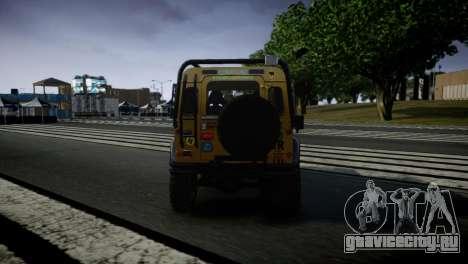 Land Rover Defender для GTA 4 вид справа