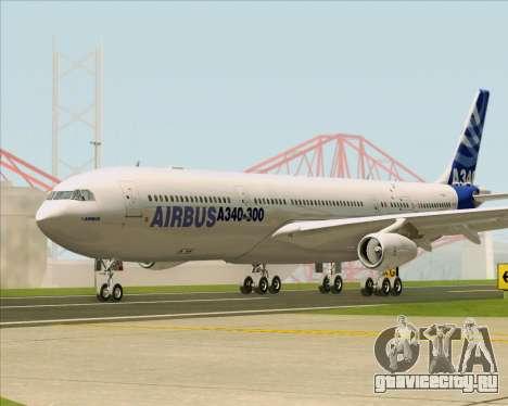 Airbus A340-311 House Colors для GTA San Andreas вид изнутри