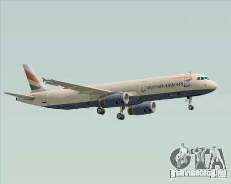 Airbus A321-200 British Airways для GTA San Andreas вид сверху