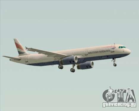 Airbus A321-200 British Airways для GTA San Andreas вид сверху