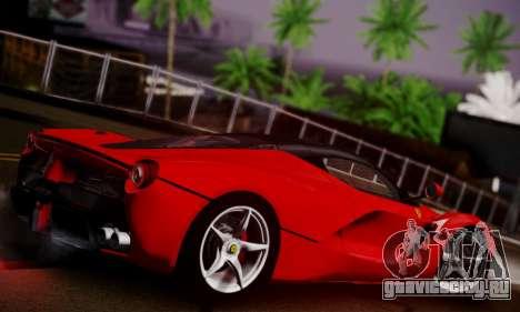 Ferrari LaFerrari F70 2014 для GTA San Andreas вид изнутри