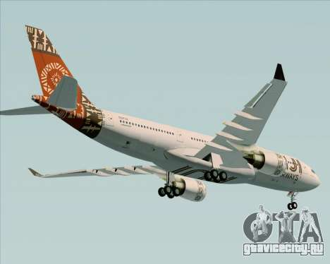 Airbus A330-200 Fiji Airways для GTA San Andreas вид сверху