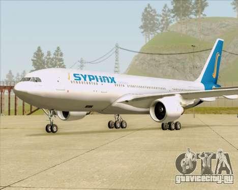 Airbus A330-200 Syphax Airlines для GTA San Andreas вид сзади слева