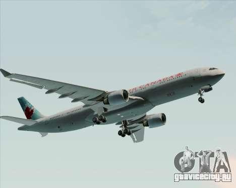 Airbus A330-300 Air Canada для GTA San Andreas вид сверху