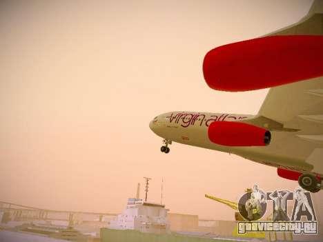 Airbus A340-300 Virgin Atlantic для GTA San Andreas салон