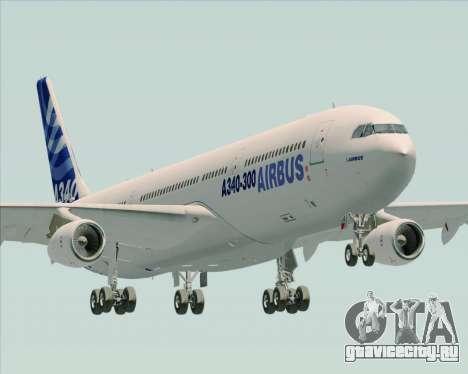 Airbus A340-311 House Colors для GTA San Andreas вид сбоку