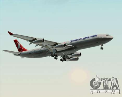 Airbus A340-313 Turkish Airlines для GTA San Andreas колёса