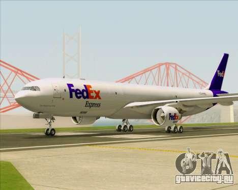 Airbus A330-300P2F Federal Express для GTA San Andreas вид сзади