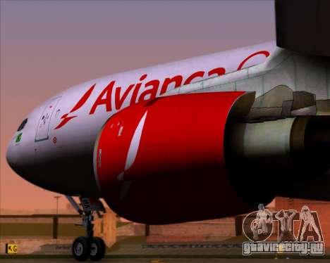 Airbus A330-243F Avianca Cargo для GTA San Andreas вид сзади