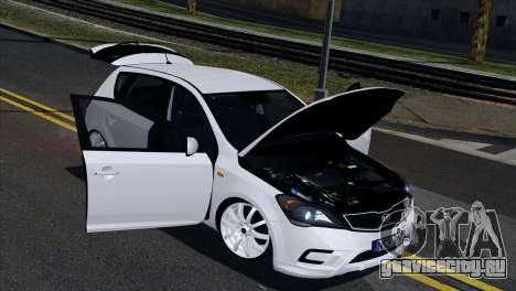 Kia Ceed для GTA San Andreas вид изнутри